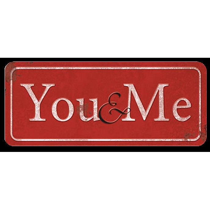 Placa Decorativa You And me 35x14,6cm