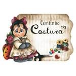 Placa Decorativo Cantinho da Costura 35x25cm em Mdf Lpc-01 - Litocart
