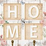 Placa Decorativo em Mdf 19,5x19,5 Home Dhpm5-147 - Litoarte