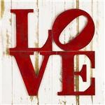 Placa Decorativo em Mdf 29,5x29,5 Love Dhpm5-152 - Litoarte