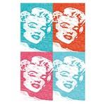 Placa Decorativo em MDF 22x33 Marilyn Monroe DHPM5-136 - Litoarte