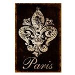Placa Decorativo em MDF 22x33 Paris e Flor de Lis DHPM5-129 - Litoarte