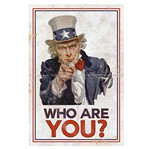 Placa Decorativo em MDF 22x33 Who Are You? DHPM5-135 - Litoarte