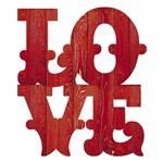 Placa Decorativo Love Country 19x22 em Mdf Dhpm5-008 - Litoarte