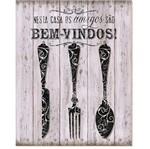 Placa em Mdf e Papel Decor Home Bem-Vindos Dhpm-017 - Litoarte