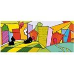 Placa em Mdf e Papel Decor Home Cidade Gato e Cachorro Dhpm3-004 - Litoarte