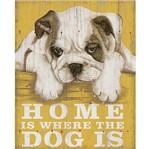 Placa em MDF e Papel Decor Home Dog DHPM-127 - Litoarte