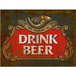 Placa em MDF e Papel Decor Home Drink Beer DHPM-119 - Litoarte