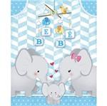 Placa em Mdf e Papel Decor Home Elefante Bebê Menino Dhpm-087 - Litoarte