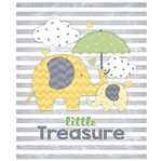 Placa em MDF e Papel Decor Home Elefante com Guarda-Chuva DHPM-085 - Litoarte