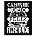 Placa em Mdf e Papel Decor Home Feliz Dhpm-038 - Litoarte