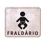 Placa em Mdf e Papel Decor Home Fraldário Dhpm-033 - Litoarte