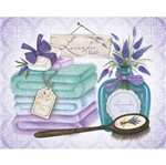 Placa em MDF e Papel Decor Home Lavander Bath DHPM-078 - Litoarte