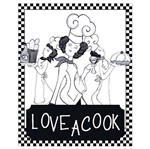 Placa em Mdf e Papel Decor Home Love a Cook Dhpm-056 - Litoarte