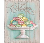 Placa em MDF e Papel Decor Home Macaron DHPM-071 - Litoarte