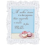 Placa em MDF e Papel Decor Home Moldura Macaron DHPM-074 - Litoarte