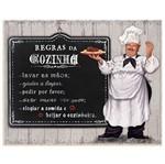 Placa em Mdf e Papel Decor Home Regras da Cozinha Dhpm-003 - Litoarte