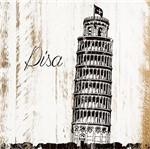 Placa em Mdf e Papel Decor Home Torre de Pisa Dhpm-124 - Litoarte
