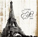 Placa em Mdf e Papel Decor Home Torre Eiffel Dhpm-122 - Litoarte