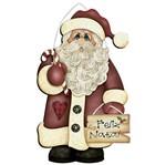 Placa em MDF Natal Litoarte DHN-014 29,5x17,5cm Papai Noel com Placa