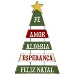 Placa em MDF Natal Litoarte DHN-019 57x33cm Árvore de Natal