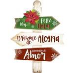 Placa em MDF Natal Litoarte DHN-028 40x29cm um Feliz Natal