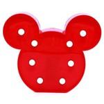 Placa Luminária Abajur Quadro Led Mickey Minie Vermelha