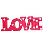 Placa Luminária Letreiro Quadro Led Love Vermelho