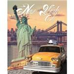 Placa Madeira Média New York LPMC-03 - Litocart