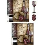 Placa Madeira Quadrada 3D Vinho 25x25 LPQC3D-006 - Litocart