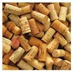Placa Mdf Quadrada 25x25 Rolhas de Vinho Bagunçadas Lpqp-007 - Litocart