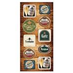 Placa MDF Retangular 28x60 Rótulos de Cerveja LPQG-002 - Litocart