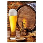 Placa MDF Retangular 22x32 Copo de Cerveja LPQM-003 - Litocart