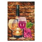 Placa Mdf Retangular 22x32 2 Taças Vinho e Garrafa Lpqm-004 - Litocart