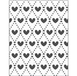 Placa para Relevo 2D Elegance Toke e Crie PPR023 12,7x7,5 Mini Corações