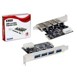 Placa Pci Express com 4 Portas Usb 3.0 Lotus