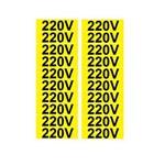 Placa SINALIZAÇÃO 220 V C/20 Adesivo Destacaveis (35X10MM)