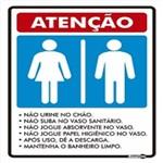 Placa SINALIZAÇÃO Adesiva Femenino/Masculino C/2 (15X20)