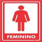 Placa SINALIZAÇÃO Adesiva Feminino C/2 (15X20)