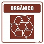 Placa SINALIZAÇÃO Adesiva Lixo Organico (18X18)