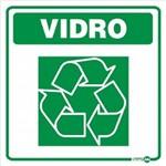 Placa SINALIZAÇÃO Adesiva Lixo Vidro (18X18)