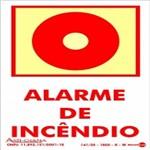 Placa SINALIZAÇÃO Alarme de Incendio Fotolum. (10X15)