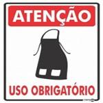 Placa SINALIZAÇÃO ATENÇÃO Avental Uso Obrigatorio (20X30X0,80MM)