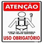 Placa SINALIZAÇÃO ATENÇÃO Cinto de Seg. Uso Obrigatorio (20X30X0,80MM)