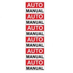 Placa SINALIZAÇÃO Auto/Manual C/12 Adesivo Destacaveis (15X36X80MM)