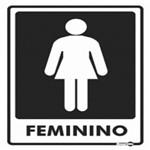Placa SINALIZACÃO Banheiro Feminino (20X15X0,80MM)