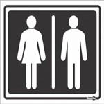 Placa SINALIZACÃO Banheiro Masculino/Feminino (20X15X0,80MM)