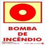 Placa SINALIZAÇÃO Bomba Incendio Fotolum. (10X15)