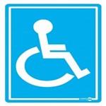 Placa SINALIZACÃO Cadeirante Deficiente (20X15X0,80MM)