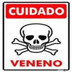 Placa SINALIZAÇÃO Cuidado Veneno (20X30X0,80MM)